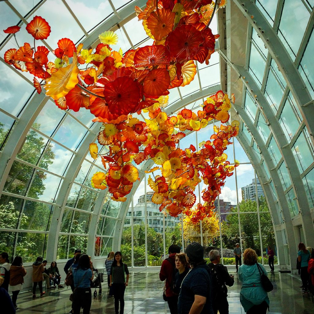 Chihuly Garden Glass Seattle Washington WA ChihulyGG JoeyMcGirr Joey McGirr Blog Travel Traveling Blogger Blogging Collage Art Museum Exhibit Artist Dale Center Space Needle 14
